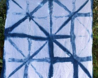 Indigo dyed shibori square