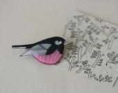 Australian Birds - Pink Robin Pin