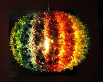 Lampwork light fixture, glass light fixture, light fixture, glass home decor SRA