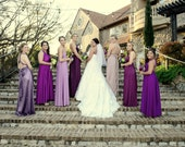 reserved Jennarey84 Lavender Mauve Marsala Infinity Convertible Bridesmaid Dresses CUSTOM all wedding colors to size/length  Made in the USA