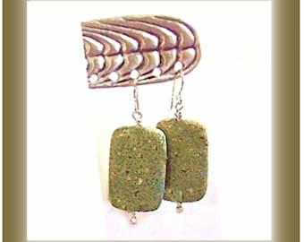 Jasper Earrings, Big Earrings, Pink Spot Jasper, Chunky Earrings, Gray Earrings