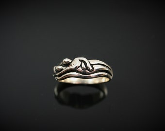 Embraced Ring, sterling silver, lovers ring, Eco-friendly recycled sterling silver wedding ring