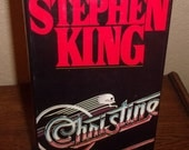 Christine-Stephen King-Hardcover Book with DJ-BCE 1983