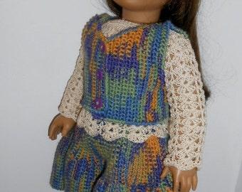 "Crochet Pattern-Monday's Child-18"" Doll Outfit"