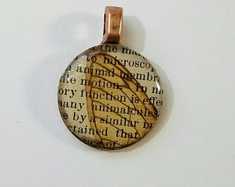 Real Cicada Wing Penny Pendant
