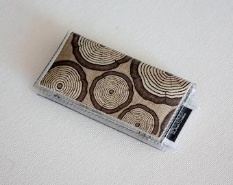 SALE Mini Card Holder / Observant  - Dear Sukie, mini card, moo card, small wallet, snap, vinyl, cute wallet, woodland animals, wood, deer