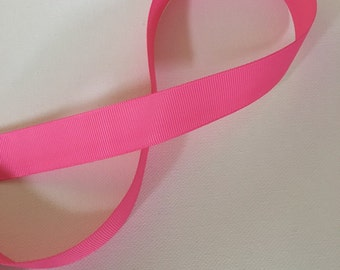 "Hot pink grosgrain ribbon 7/8"" 5 yds"
