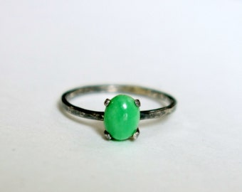 Green and Black Turquoise Ring