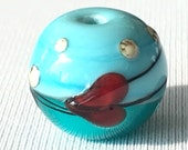 1 Heart Sphere - Reserved Listing for Chloe!   glass beads by Beadfairy Lampwork, SRA