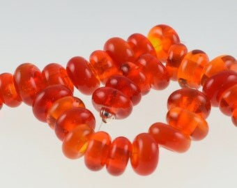 Handmade Lampwork Red Spacer Beads