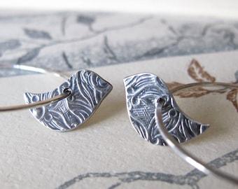 Littlebird Hoops sterling silver hoop earrings modern peace dove birds