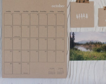 2017 kraft wall calendar