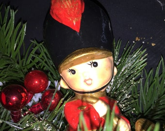 Vintage Soldier Boy Christmas Decoration