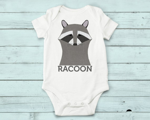 Racoon - onesie, baby girl, baby boy, baby gift, baby girl clothes, baby boy clothes, baby onesie, cute onesies, infant bodysuit, animals
