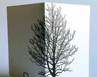 ON SALE letterpressed tree card