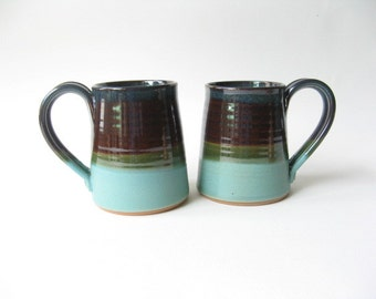 Stoneware Mugs 16 oz. Set of 2
