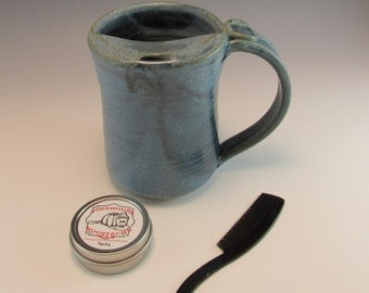 Mustache Mug Gift Set/Moustache Mug/Mustache Cup/Mustache Guard Mug 14-16 Ounces with Mustache Wax and Comb
