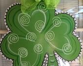 front door decor, st Patrick decorations, St Patrick door hanger, Shamrock door hanger. St. Patty's