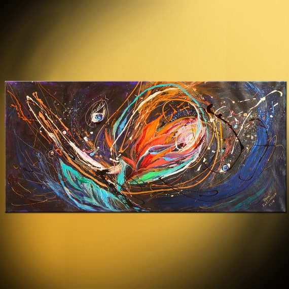abstract black background original painting on canvas the