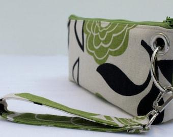 Zipper Pouch Clutch Wallet - Long Wallet - Cell Phone - Passport - Errand Runner - Evening Bag - Zip Fabric Wallet - Wristlet