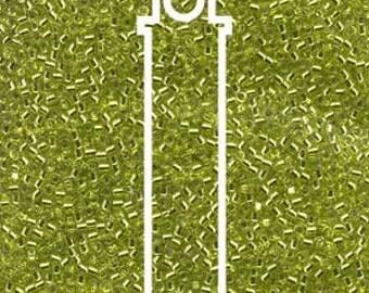 Miyuki Delica DB147 SILVER LINED CHARTREUSE 7.2 Grams
