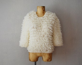 vintage 1980s SHAGGY KNIT sweater
