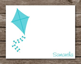 Kite Note Cards, Kite Cards, Kite Stationery, Personalized Note Cards