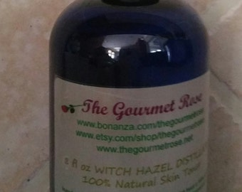 8 oz Herbal WITCH HAZEL TONER Distillate Hamamelis virginiana 100 All Natural Astringent Alcohol Free