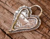 Forever Heart Charm in Sterling Silver, AD216