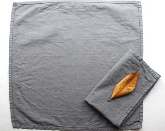 the Essentials Reusable Cloth Napkins - Hand Dyed - Natural Botanical Dyes - Silver Grey Dinner Napkins