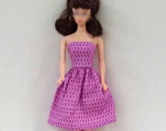"Handmade 11.5"" Fashion Doll Clothes - pink dress"