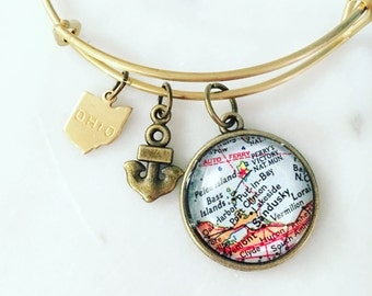 Erie Islands Bracelet - Put in Bay Bracelet - Kelleys Island Bracelet - Marblehead Bracelet - Lake Erie Jewelry - Pelee Island Bracelet