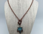 Antique Copper Patina  Leaf Necklace