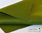 Moss Green Wool Felt Fabric, Wool Felt Blend, 12x18 Felt Sheet, Quality Wool Felt Fabric, Craft Felt, Penny Rug, Candle Mat Felt, Greens