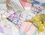 Rag Bag Girls Have a Laugh...Cute & Colorful Vintage Linens