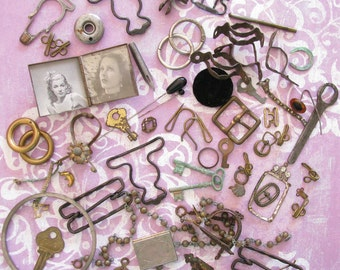 The Curious Supply Co...Fantastic Lot of Funky Vintage Metal Findings