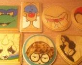 Various Cartoon Character Coasters