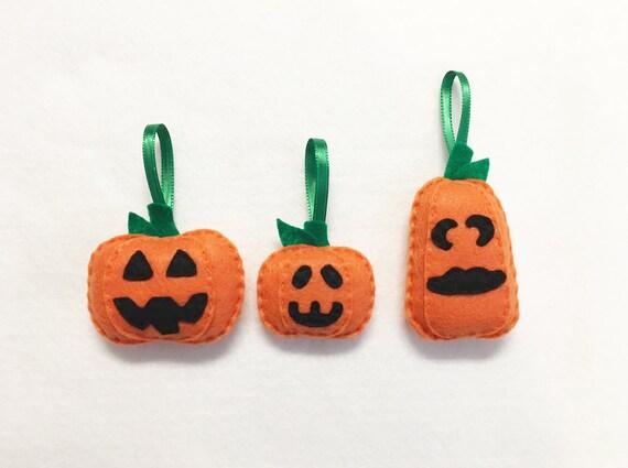 Pumpkin Ornament, Jackolantern Ornament, Halloween, Frick, Frack, and Clack the Pumpkins Ornament Set