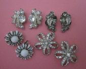 Vintage Earrings DeStash 4 pairs Rhinestone Clip Earrings