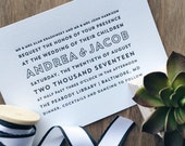Custom Letterpress Wedding Invitations - Sample
