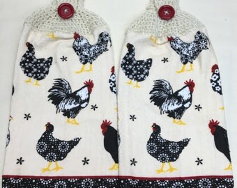 Rooster  Print Towels set of 2