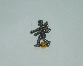 Soccer Angel Pin Tie Tack Lapel Scatter Player 11974