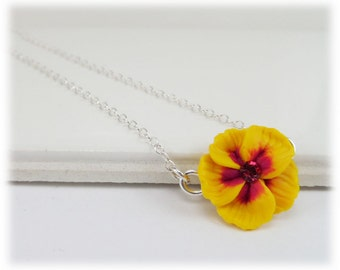 Tiny Hibiscus Necklace - Hibiscus Jewelry