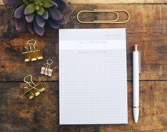 Listmaking Notepad - Grid Paper - Graph Paper - To-Do List - One Big Thing - NTP-432