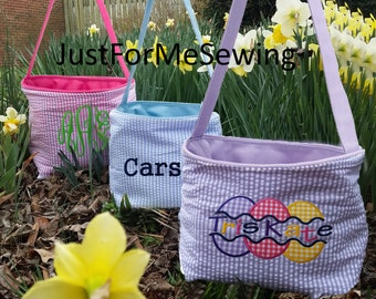 Personalized Monogrammed Easter Bucket Basket