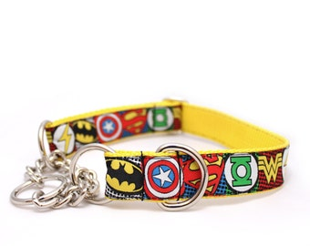 "1"" Sheldon Cooper buckle or chain martingale dog collar"