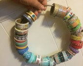 "9.5"" Extra Large Loose Leaf Binding Rings for your WASHI!"