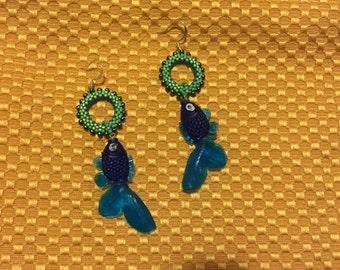 Bubble Earrings- Sea Green