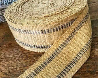 Spinning a Web... Huge Roll of Vintage Burlap Jute Webbing Trim Furniture Upholstery
