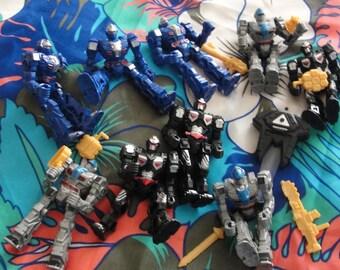 Nine Action Figures